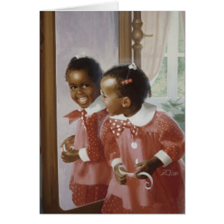 Le miroir de la grand-maman carte de vœux