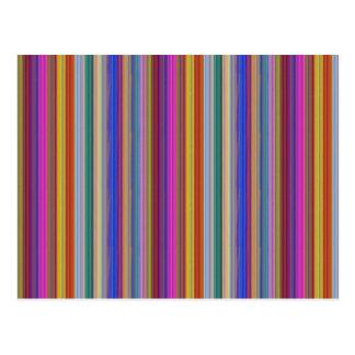 Le modèle coloré de rayures ajoutent des cartes postales