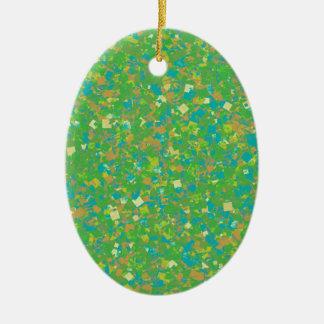 Le MODÈLE vert élégant de confettis ajoutent Ornements De Noël