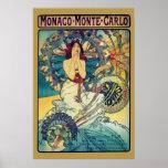 Le Monaco Monte Carlo (or) Poster