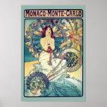Le Monaco Monte Carlo (Teal - couleurs amorties) Poster
