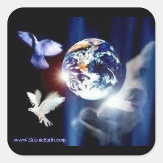 Le monde entier dans son autocollant de la terre