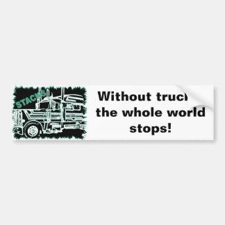 Le monde entier de piles arrête l'adhésif pour par autocollant de voiture