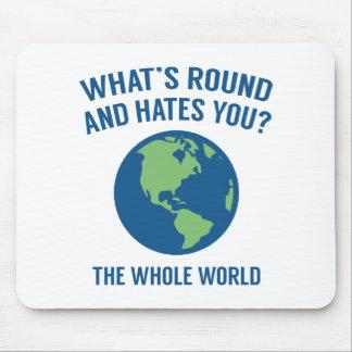 Le monde entier tapis de souris