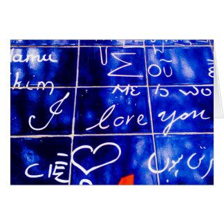 Le Monde - I Love You wall - Paris Card