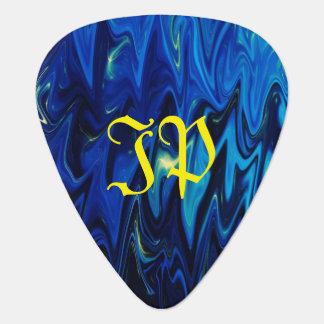 Le monogramme sur le goth a inspiré des nuances de onglet de guitare