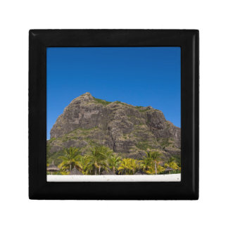 Le Morne Brabant Mauritius with blue sky Gift Box