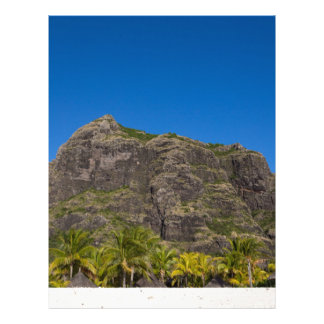 Le Morne Brabant Mauritius with blue sky Letterhead