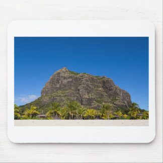 Le Morne Brabant Mauritius with blue sky Mouse Pad