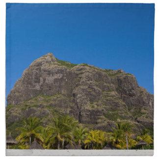 Le Morne Brabant Mauritius with blue sky Napkin