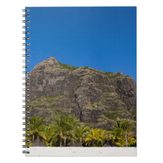 Le Morne Brabant Mauritius with blue sky Notebooks