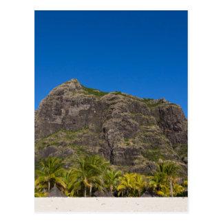Le Morne Brabant Mauritius with blue sky Postcard