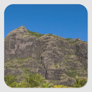 Le Morne Brabant Mauritius with blue sky Square Sticker