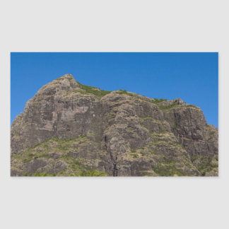 Le Morne Brabant Mauritius with blue sky Sticker