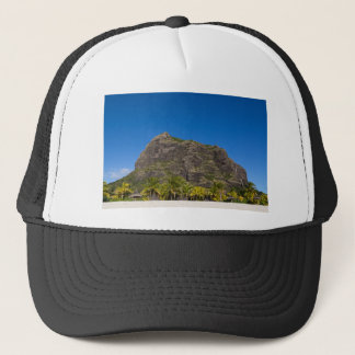 Le Morne Brabant Mauritius with blue sky Trucker Hat