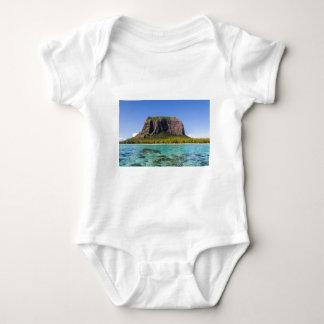 Le Morne Brabant Mauritius with sea panoramic Baby Bodysuit