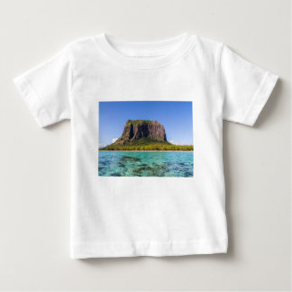 Le Morne Brabant Mauritius with sea panoramic Baby T-Shirt