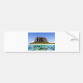 Le Morne Brabant Mauritius with sea panoramic Bumper Sticker