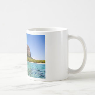 Le Morne Brabant Mauritius with sea panoramic Coffee Mug