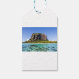 Le Morne Brabant Mauritius with sea panoramic Gift Tags