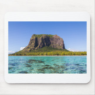 Le Morne Brabant Mauritius with sea panoramic Mouse Pad