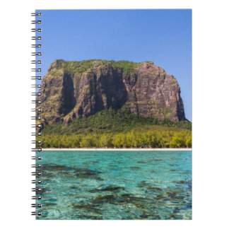 Le Morne Brabant Mauritius with sea panoramic Notebook