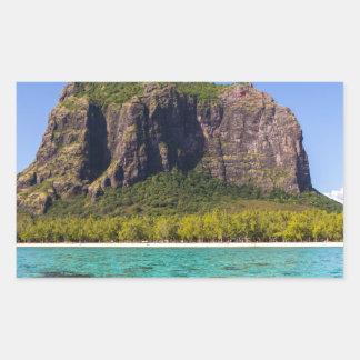 Le Morne Brabant Mauritius with sea panoramic Sticker