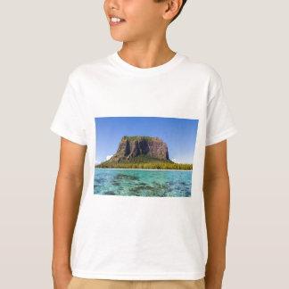 Le Morne Brabant Mauritius with sea panoramic T-Shirt