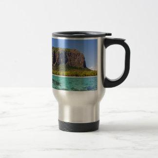 Le Morne Brabant Mauritius with sea panoramic Travel Mug