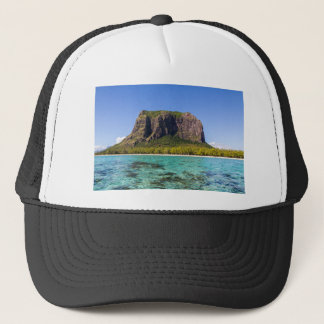 Le Morne Brabant Mauritius with sea panoramic Trucker Hat