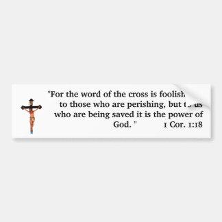 Le mot de la croix autocollant de voiture