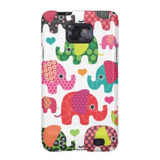 Le motif coloré Samsung d'enfants d'éléphant enfer Coques Galaxy S2