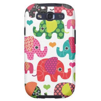 Le motif coloré Samsung d'enfants d'éléphant enfer Étuis Galaxy S3
