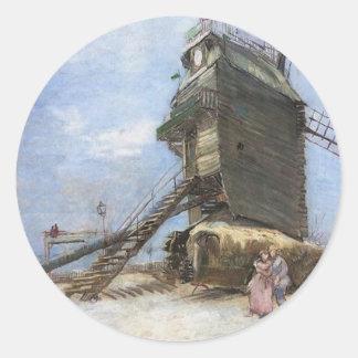 Le Moulin de la Galette by Vincent van Gogh Classic Round Sticker