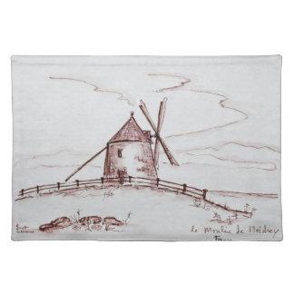 Le Moulin de Moidrey Windmill   Pontorson Placemat
