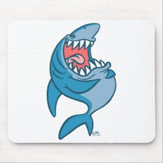 Le mousepad riant de bande dessinée de requin tapis de souris