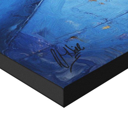 Le Mur Bleu Canvas Print