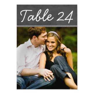 Le nombre de Tableau de photo de mariage carde le Carton D'invitation 12,7 Cm X 17,78 Cm