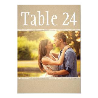 Le nombre de Tableau de photo de paysage carde le Carton D'invitation 12,7 Cm X 17,78 Cm