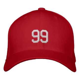 Le nombre fait sur commande de jersey folâtre les chapeau brodé