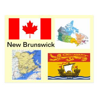 Le Nouveau Brunswick Canada Carte Postale