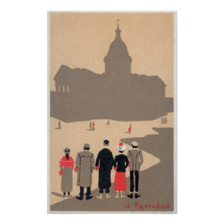 Le Pantheon Art Deco SceneParis, France Poster