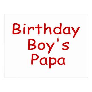 Le papa du garçon d'anniversaire cartes postales
