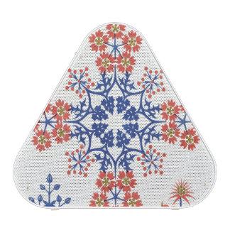 Le papier peint de motif de Violiet, d'iris et de  Haut-parleur Bluetooth