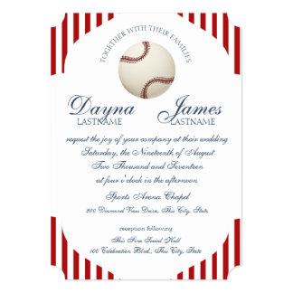 Le parc de base-ball barre le mariage carton d'invitation  12,7 cm x 17,78 cm