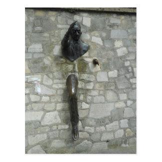 Le Passe-Muraille by Jean Marais Postcard