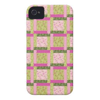 Le patchwork vert assez rose ajuste le motif coques Case-Mate iPhone 4