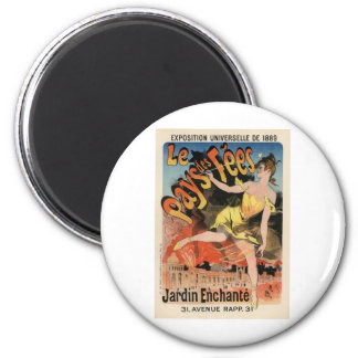 Le Pays des Fees 2 Inch Round Magnet