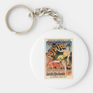 Le Pays des Fees Basic Round Button Keychain
