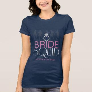 Le peloton de jeune mariée silhouette le blanc sur t-shirt
